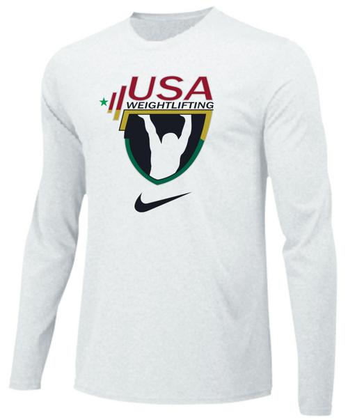 Nike Men's USAW Team Legend LS Crew - White