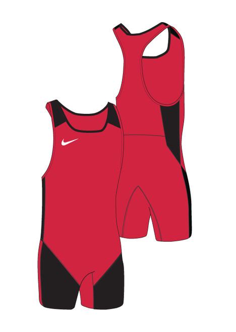 Nike Men's Weightlifting Singlet - Scarlet / Black