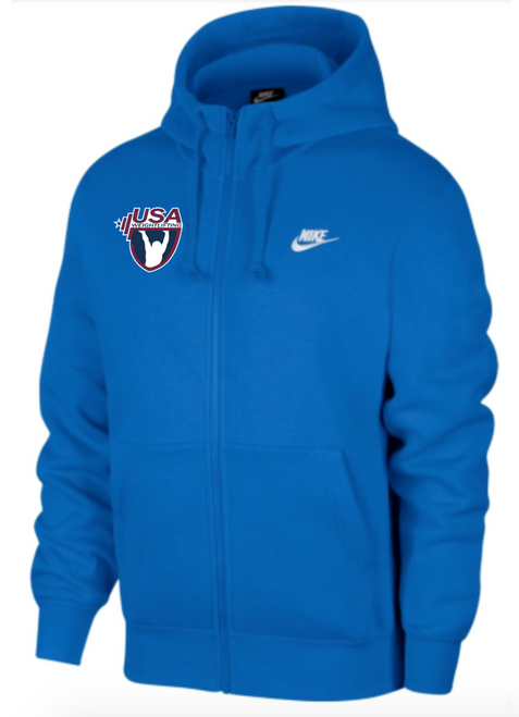 Nike Youth USAW Club Fleece Full Zip Hoodie - Royal
