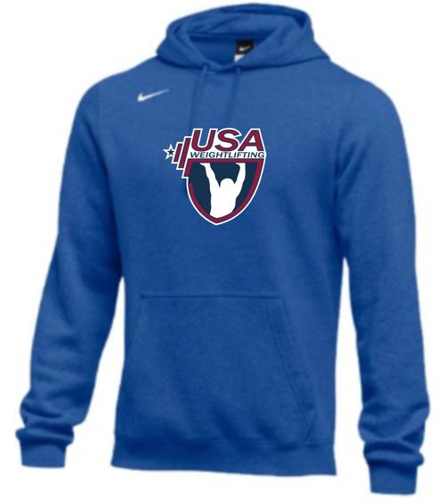 Nike Men's USAW Club Fleece Pullover Hoodie - Royal
