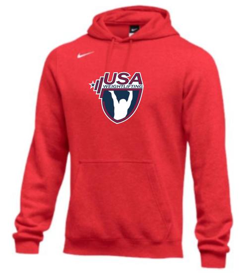 Nike Men's USAW Club Fleece Pullover Hoodie - Scarlet