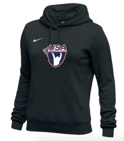 Nike Women's USAW Club Fleece Pullover Hoodie - Black