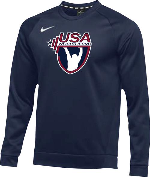 Nike Men's USAW Therma Crew - Navy