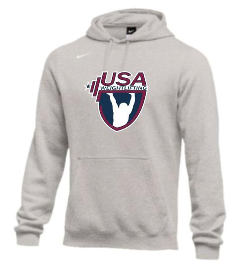 Nike Men's USAW Club Fleece Hoodie - Grey