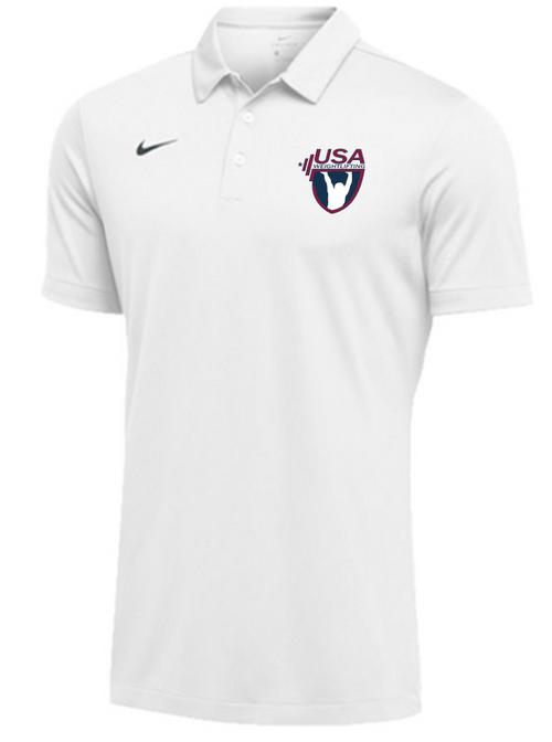 Nike Men's USAW SS Polo - White