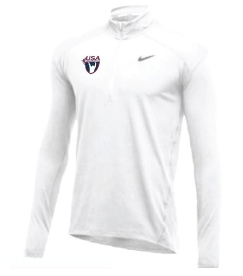 Nike Men's USA Weightlifting 1/2 Zip Top - White