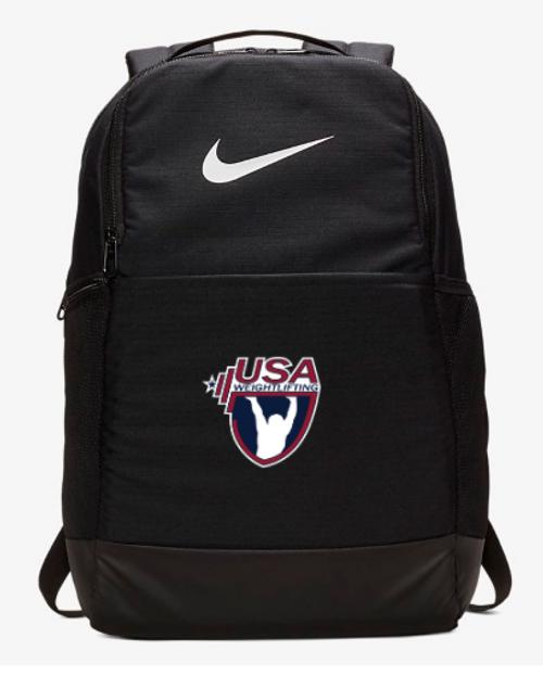 Nike USA Weightlifting Brasilia Backpack - Black