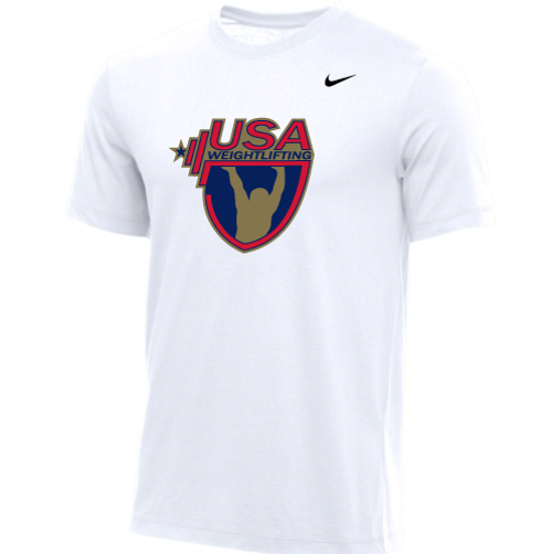 Nike Men's USA Weightlifting Tee - White/Gold