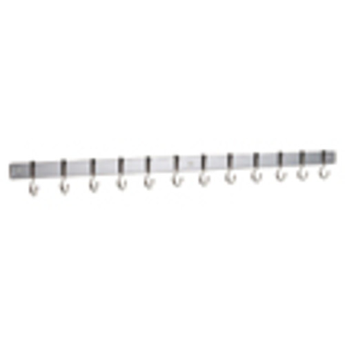 Complete with: 12 x Metro hooks, and all fixings Size: 91w x 5h cm Material: Stainless Steel