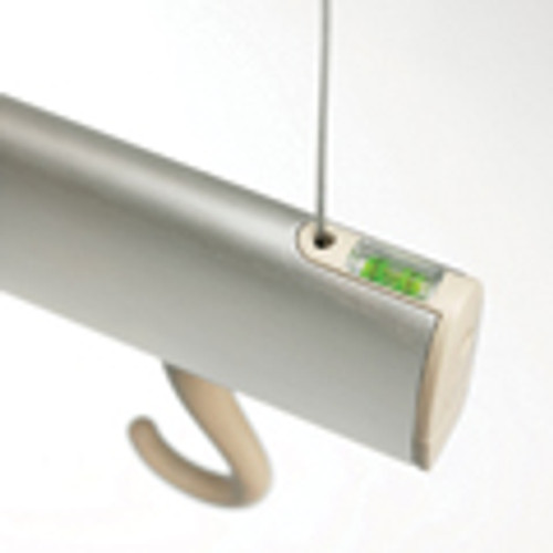 Trackrack is modern, contemporary and unique. Made from extruded anodised aluminium with the somewhat 'quirky' feature of a hidden spirit level to ensure accurate fixing. Size: 92cm x 4cm x 4cm