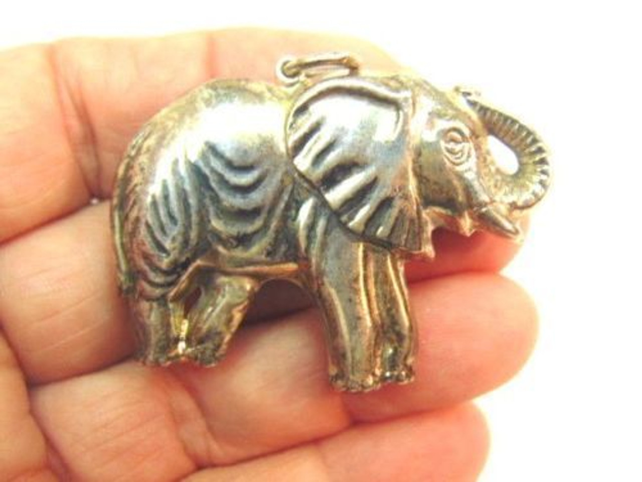 Vintage Sterling Silver Elephant Charm