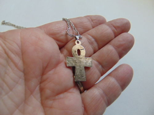 Ankh Necklace Key of Life Egyptian Pendant Egypt Luxor Hotel Crystal Ball