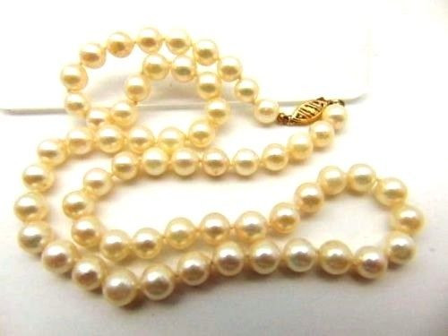 170 beads approx Genuine Natural Rondelle Cream Pearl Strand 40cm String