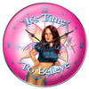 """Sexy Fairy Pinup Art """"I Do Believe in Fairies"""" Clock By Nicole Brune"""