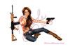 """Country Girls Pack"" PinUp Art by Nicole Brune is perfect for the patriotic people in your life. Featuring Emily Addison as our gun packin country girl"