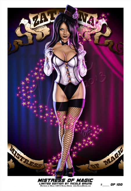 """Mistress of Magic 13x19"""" Limited Edition by Nicole Brune"""