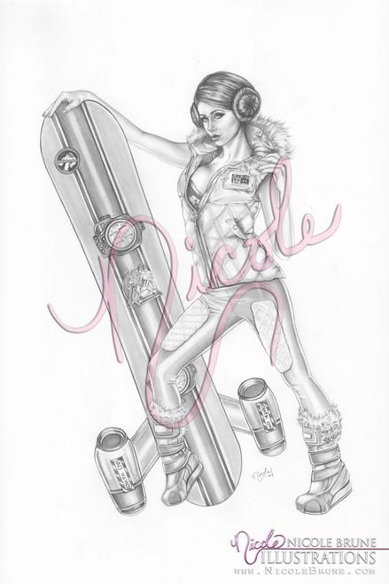 Snow Princess original drawing by Nicole Brune