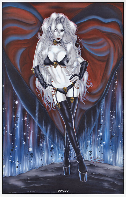 """""""Death Becomes Her"""" 11x17"""" Lady Death Limited Edition by Nicole Brune"""