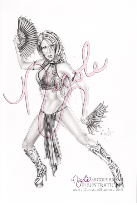 """Flawless Victory 11x17"""" original graphite drawing by Nicole Brune"""