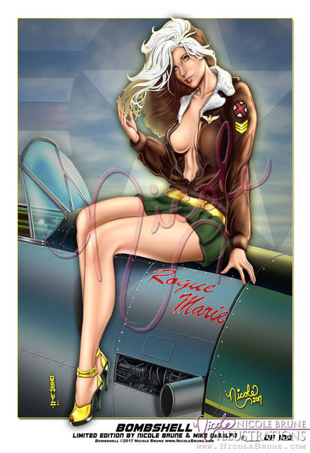 "Bombshell 13x19"" Limited Edition pinup by Nicole Brune"