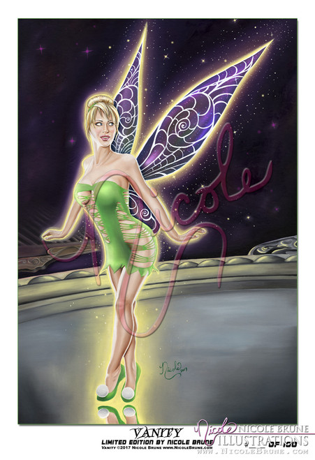 "Vanity 13x19"" Limited Edition pinup by Nicole Brune"