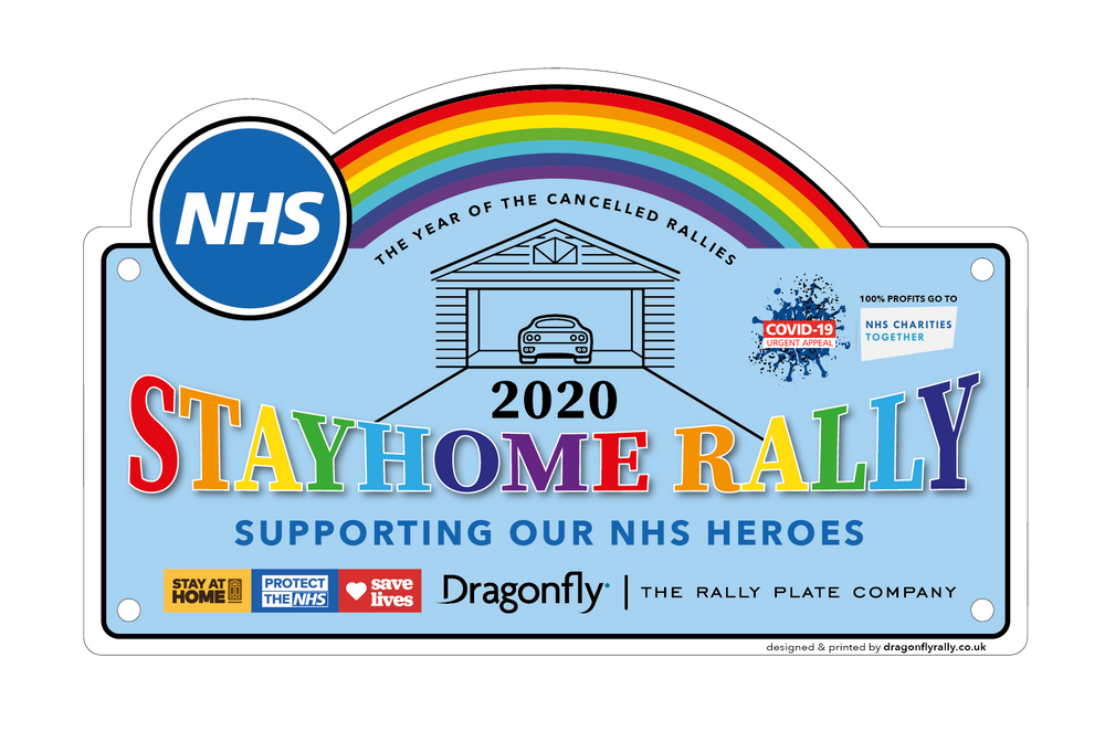 Support the NHS - Stay Home Rally 2020 Rally Plate
