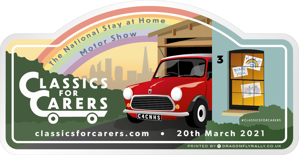 MARCH 2021 - TWO Classics for Carers Window Stickers