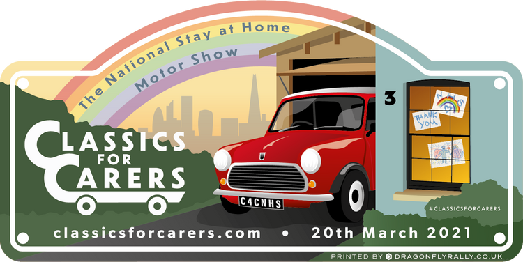 MARCH 2021 - Classics for Carers Rally Plate