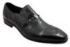 Bagatto Men's Dressy Italian Mock Crocodile look Slip on shoes 3270 Black