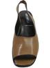 Santa Borella 7213 Women's Italian Leather Slingback Sandals, Tan