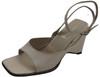 Women's Davinci Designer 1899 Italian Ankle Strap Wedge Sandal, Off White