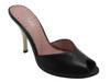 Tyler Wile Women's Italian Open Toe Low Heel Mule In Black And Beige