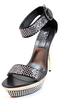 Party sandals 7681 Biondini high heels