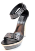 Party sandals 7681 Biondini high heels