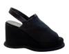 Davinci Women's 1105 Italian Wedge Heel Sandals Black