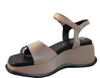 Marco Moreo Women's 2022 Italian Leather Wedge Sandals Beige