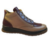 Old Sail Men's A105 Italian Lace-Up High Top Fashion Sneakers beige bordeaux