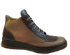 Old Sail Men's A105 Italian Lace-Up High Top Fashion Sneakers beige brown