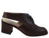 Colors Women's 108 Italian Leather Sling back Low Heel Shoes