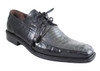 Men's Mezlan Two Tone Lace-up Square Toe Ostrich Leg/Eel Bellini