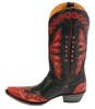 Women's Old Gringo L-026-44 Monarca Black/Red/Pink Cowboy Boots