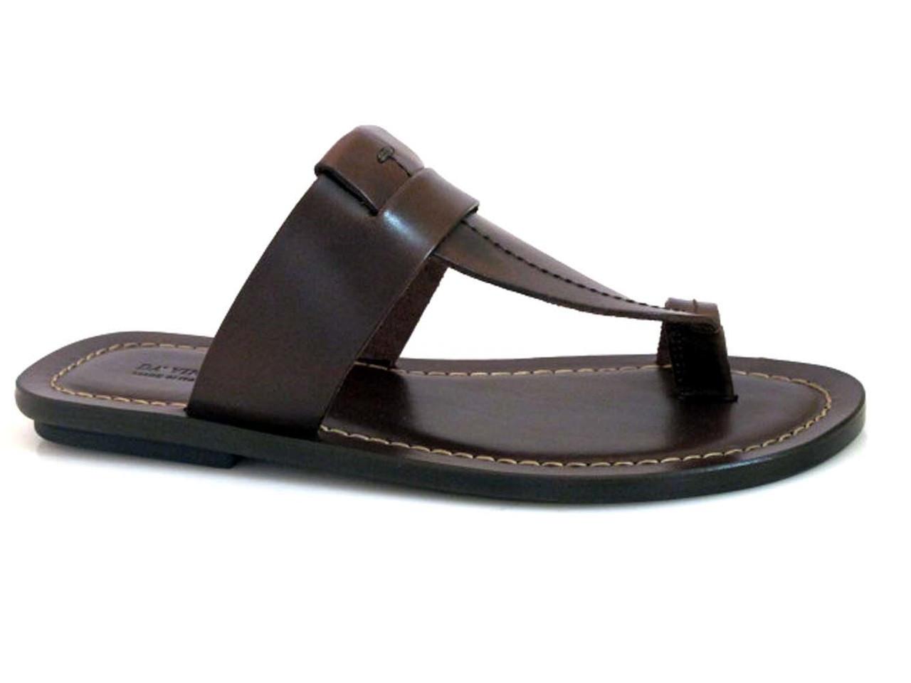 Davinci 3905 Men/'s Italian push In Toe Leather Sandals