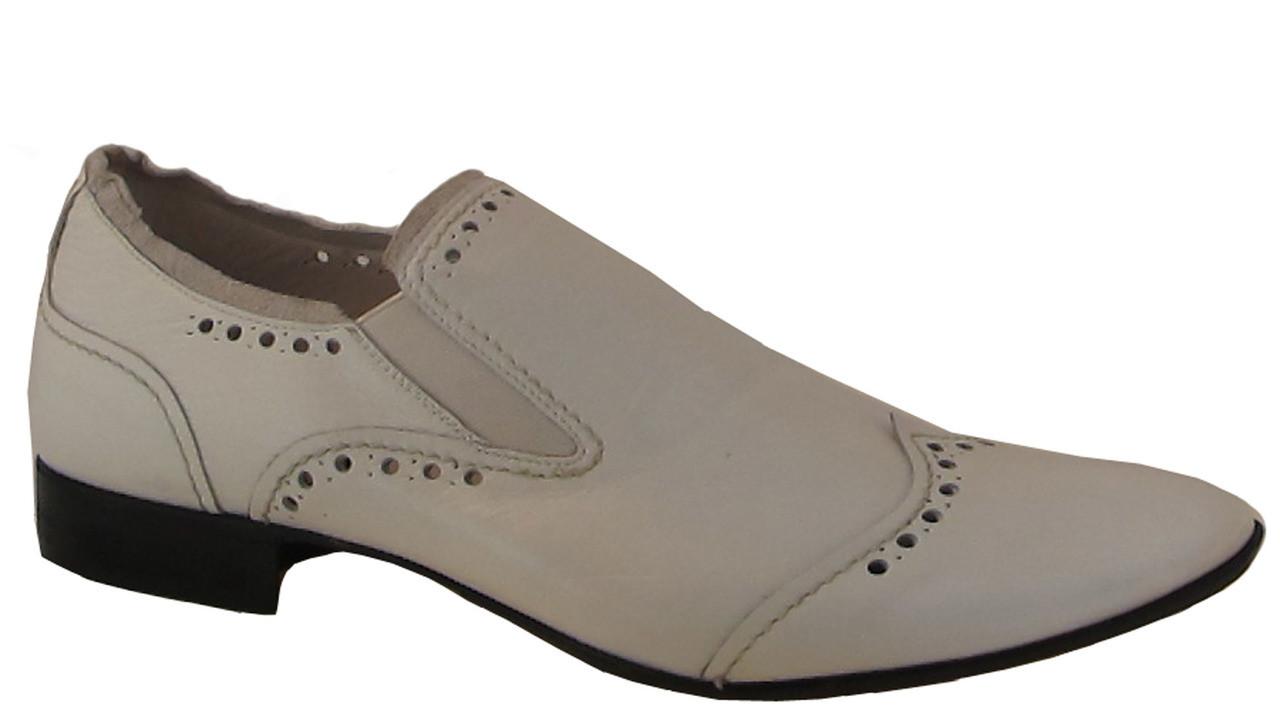 Spaziouomo 4054 Mens Italian Leather Dressy Slip On Shoes