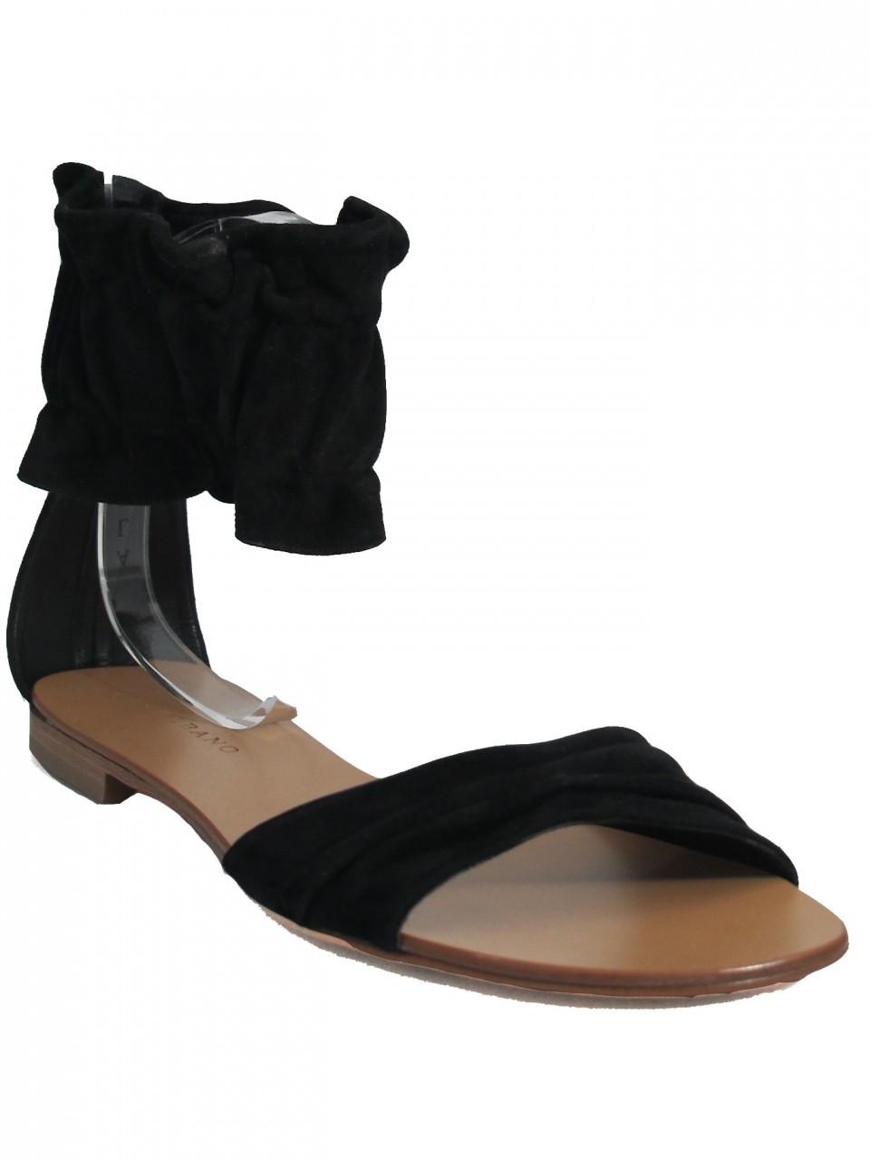 Albano 9919 Women's Italian Suede Sandal Open Toe, Ankle Strap