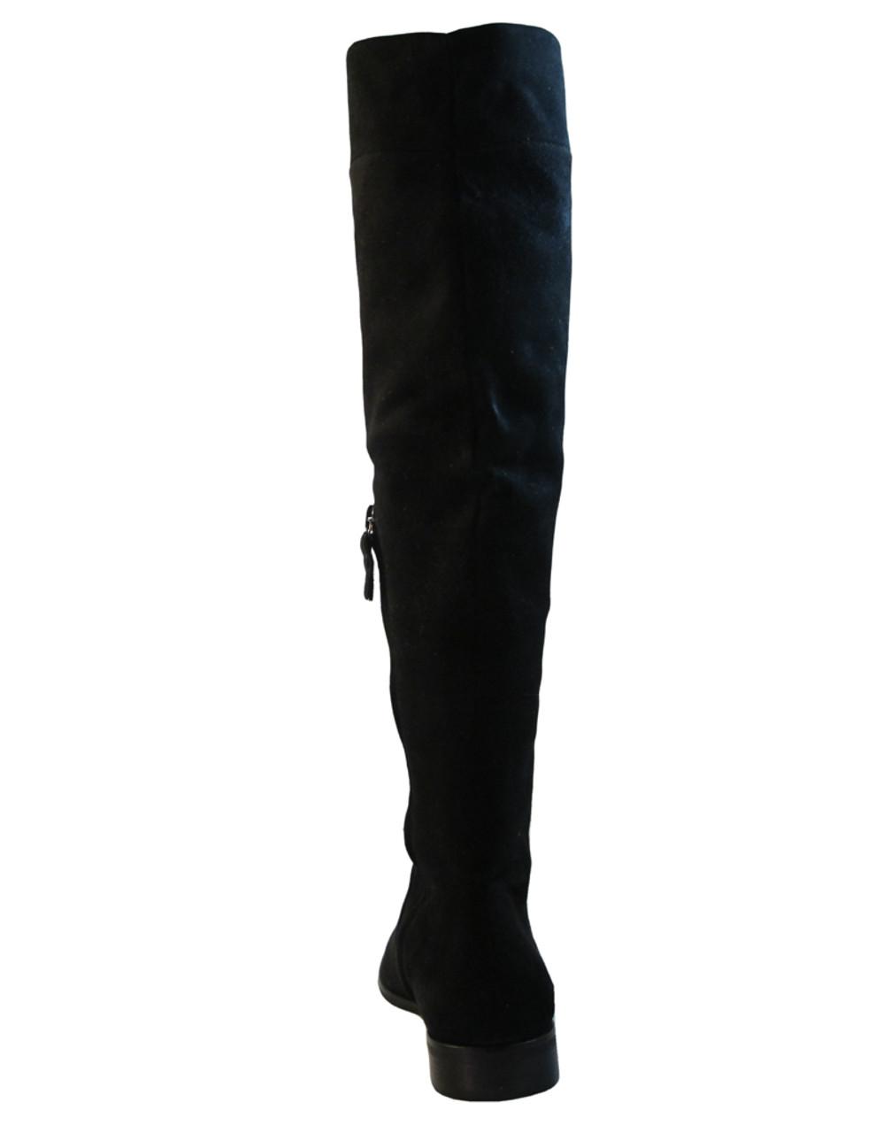 Julie Dee 4467 Women's Italian Designer Knee High Flat Leather Boot