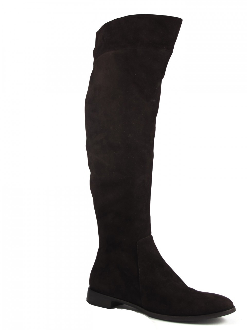 on wholesale clearance prices new list Women's The Seller Italian Designer 4467 Knee-High Flat Leather Boot