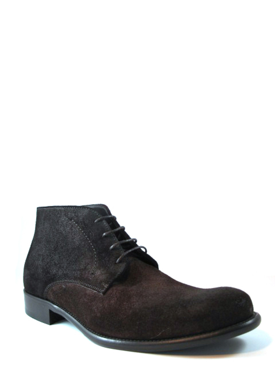 Men's Davinci Italian Lace Up Ankle Boot Brown Brushed Suede 1020