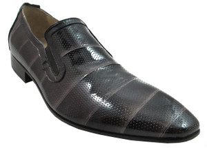 Carlos Ventura 1143 Men's Italian Dressy Evening Perforated Leather Shoes Black