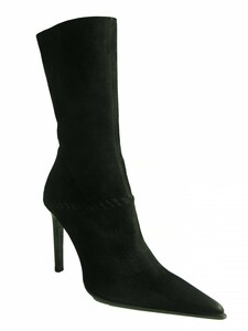 Women's Pointy Toe Suede Midcalf Boot By Antonio Eboli 4511