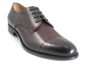 Doucals Men's 41104 Lace Up Dressy/casual Italian Shoes,Dark Brown